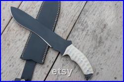 16 HUNTING BOWIE, Handmade Knife, Custom Made Knife, Hand Forged Knife, Gift for Hunters, Handmade Hunting Gifts