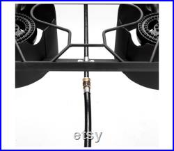 2 Burner Gas Cooker Grill Propane 150000 BTU Double 2 Burner Gas Cooker Stand Stove Outdoor BBQ