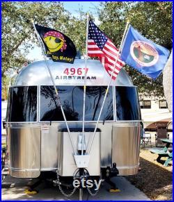 3 Flag Pole Holder, Camper Flag Holder, RV Flag Holder, Camping Flag Holder, Airstream, Pole Holder, Jack Mount Holder, Trailer Flag Holder