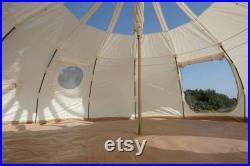 5 Meter Lotus Star Tent 16 Feet Family Camping Outdoor Hiking Nature Glamping Stargazing Movie Night Bonfire Yurt Teepee