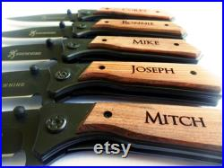 7 SET Personalized Pocket Knives. Engraved Knife, Custom Knives, Groomsmen Knife, Groomsman Pocket Knife, Fathers Day Gift