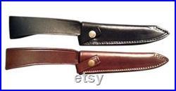 Argentine Handmade Stag Horn Gaucho Knife Snap Closure Heavy Leather Belt Sheath CA-CU125-2 2117