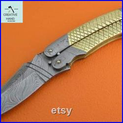 Assian Creesed style Hidden knife , butterfly knife , Butterfly knife in color Gamma Doppler gift for gamer training knife replica