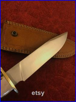 BOWIE KNIFE, Hunting Knife, Personalized Carbon Steel Antler Hand Forged Knife, Gift for father, Fixed Blade Knife, Groomsmen Gift