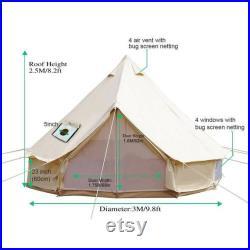 Bell Tent 3M 4M 5M 6M 7M Safari Yurt Waterproof Canvas Glamping Camping Outdoors