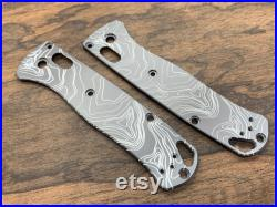 Black Zirconium TOPO engraved Knife Scales for Benchmade Bugout 535 Folding Knife scales Pocket knife EDC MetonBoss Every Day Carry