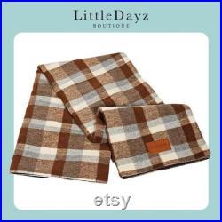British Plaid Soft Wool Large Outdoor Waterproof Picnic Camping Blanket Mat