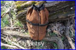 Bushcraft leather food bag