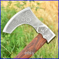 Call to War Carbon Steel Medieval Viking Ornate Bearded Axe