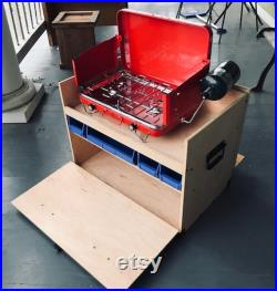 Camp Chuck Box Camp Kitchen Storage Box Camp Stove Edition