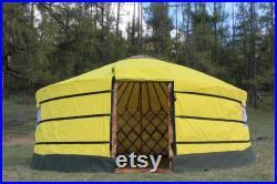 Camping Yurt(Burnt Wood Finish)