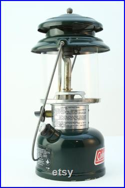 Coleman Model 286A (3 93) Vintage Green, American Made, Camping Utility Lantern, Dated March 1993