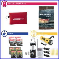 Complete Hurricane Survival Kit 4 Person No Masks