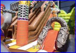 Custom Built Inflatable modular amusement park air bouncer inflatable trampoline Funcity XL Custom Size and Design Available