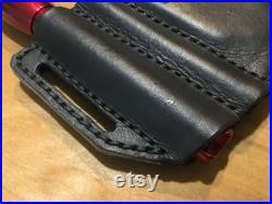 Custom Leather Combo Sheath for 4 EDC (example Leatherman Raptor, Letherman Surge, Fenix light, and Ink Pen)