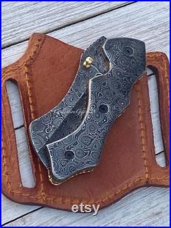 DAMS- Full Damascus Steel Folding Knife Pocket Knife Everyday use compact knife best folding knives premium knives steel folding knives