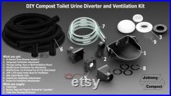 DIY Compost Toilet In-Bucket Urine Diverter and Ventilation Kit