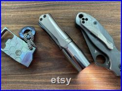 EDC Flashlight Polished Titanium Superconductor Pocket clip Custom Titanium EDC Tool Outdoor Every Day Carry EDC gear 50th birthday gift Cnc