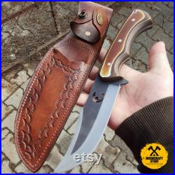Fireproof and Water Resistant Kombakt (Werzalit) Handle Camping and Hunting Knife 359, Leather Case (Gift)