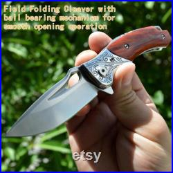 Folding Pocket Knife M390 Steel Portable Hunting Knife Outdoor Tool Wood Handle Knives Solid Wood Ball Bearing Tactical Knife
