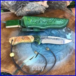 Full Tang N690 Böhler Steel Camping Knife Custom Handmade Hiking Bushcraft Forest Hunting Fishing Survival Tool