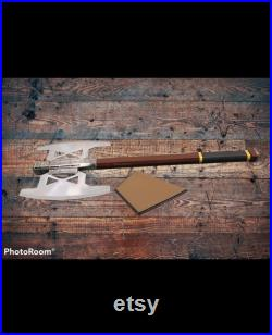 Gimli Battle Axe Handmade Replica From Lord of the Rings (LOTR) Silver Version