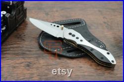 Hand Forged D2 steel Folding knife, D2 steel knife bull Horn handle, pocket knife, D2 steel knife USA, Collectible knife, USA folding knife