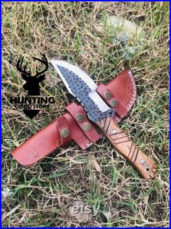 Hand Made Tracker Knife , Tracker Knife , Survival Knife , Hunting Knife With Leather Sheath , Gift For Beloved One , Lot Of 5 Tracker Knife