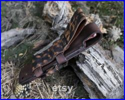 Hand crafted middle Fulltang knife for bushcraft