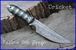 Handmade FOF Cricket work, hunting, edc and survival knife