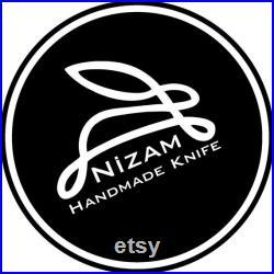 Handmade N690 Steel Scandi (Nordic) Oduncu Model Bushcraft and Camping Knife with Leather Sheath -Nizam Knife Turkey-