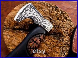 Handmade Viking Axe Vikings Norseman Custom Forged Carbon Steel Viking Axe Tomahawk, , Viking Camping Axe