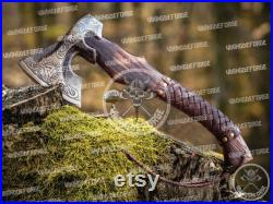 Handmade, custom Hand forged pizza Axe, Viking camping Bearded Axe, Best Birthday and Anniversary gift For him, Viking pizza cutter axe