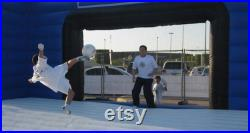 Inflatable special soccer shoot with large mattress Football Shoot score goal Custom Pick Your Size and Color