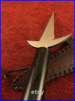 KUNAI REPLICA, Handmade Spring Steel 13 Inches Kunai, Hand Forged Dagger Knife, Custom Hunting Knife, Birthday Gift, Hunting Gift