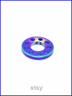 Made To Order Titanium EDC Key Connector Ring 9 Outer Holes M10 Centre Hole Top Grade 5 Titanium 10x Per Order Anodized Rainbow