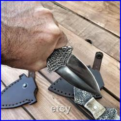Necklace Dagger Handmade Camping Hiking Bushcraft Forest Hunting Fishing Survival Tool