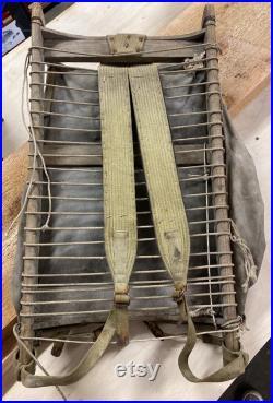 Original RARE Early 1900s Ome Daiber Backpack Pack Board, Seattle, WA