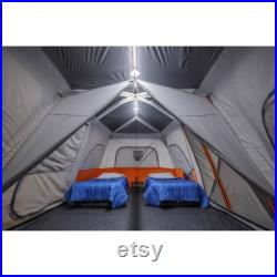 Ozark Trail 12 Person Instant Cabin Tent with Integrated LED Lights, 3 Rooms