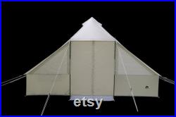 Ozark Trail Outdoorsman Single-Wall Hybrid 4 Person 1 Room Camping Tent, Beige