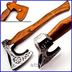 Personaliz Custom Handmade Carban Steel Axe Viking Hunting CAMPING AXE Vantage AXE Battle with Beautiful Desing of Wood Handle 272