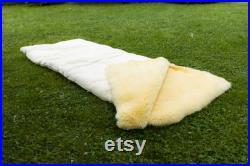 Real Natural Sheepskin Sleeping Bag for Camping Adult Fur Warm Sleeping Bag