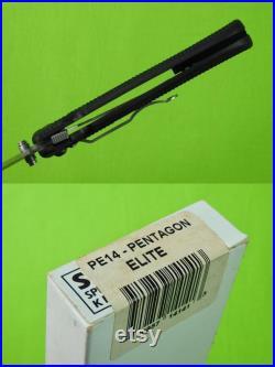 SOG Seki Japan Made Pentagon Elite Folding Pocket Knife with Box Camping Gift for Him Gift for collector Outdoorsman gift