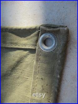 Sears Canvas Tarp Waterproof 13.13 Single Filled Duck 15'-5 X13'-5 Heavy Duty Fabric Tarpaulin