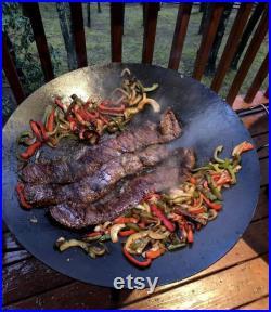 Seasoned 24 Inch Cowboy Wok Deep Disk Cooker Plow Disk Cooker Discada (Use Code GETCOOKING at ChucksCowboyWoks.com For 20 Off)