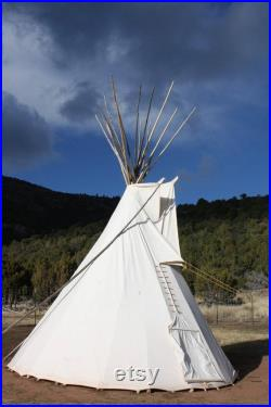 Sioux Style Backyard Tipi Teepee 10ft. Sunforger Canvas