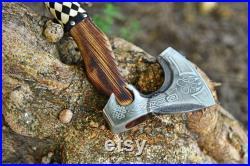 Smith Forged Viking Axe, custom handmade Carbon Steel Viking Axe Best gift for men, Wedding Anniversary Gift for Him