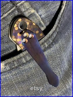 TURBO engraved Black Zirconium CLIP for Para 2 Spyderco Manix 2 Smock Native 5 Yojimbo 2 and many more Para Military 2 EDC gear MetonBoss
