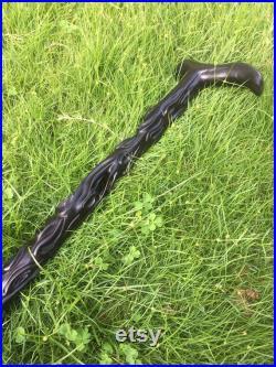 Twisted Walking Cane Ebony Walking Cane Handcrafted Walking Stick Wooden Walking stick