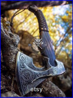Viking axe ,Hatchet, Viking Hatchet, Viking Bearded axe ,Battle axe, rose wood, Hand Forge axe ,Ransack Viking, Birthday GIFT for HIM